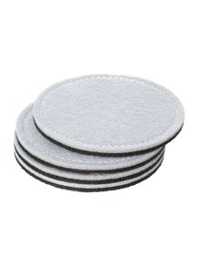 Grey felt reversible coaster S/4