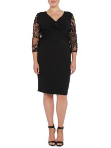 Persona Plus Size Dulcinea 3/4 sleeved lace dress