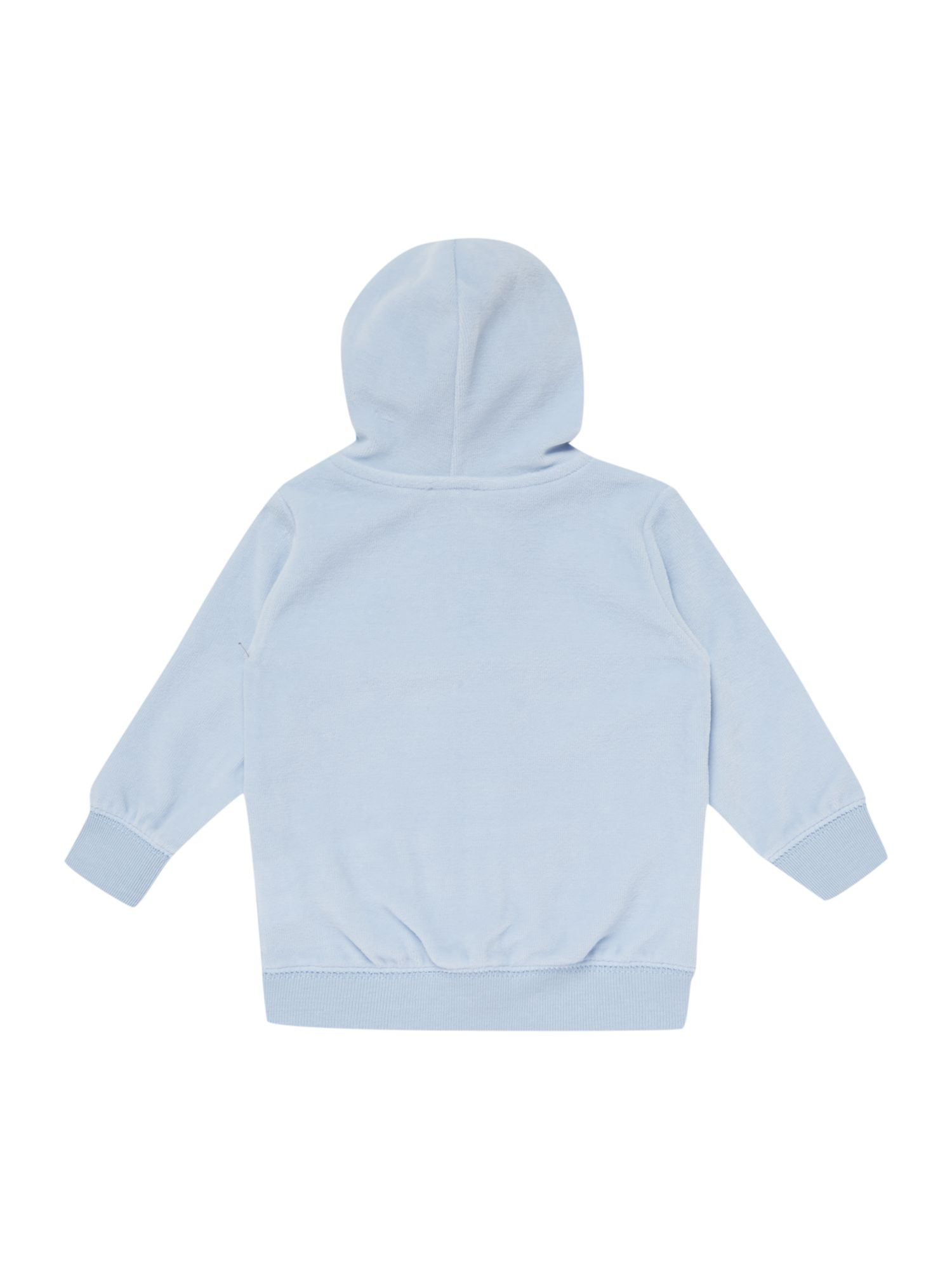 Baby boy velour hooded tracksuit top