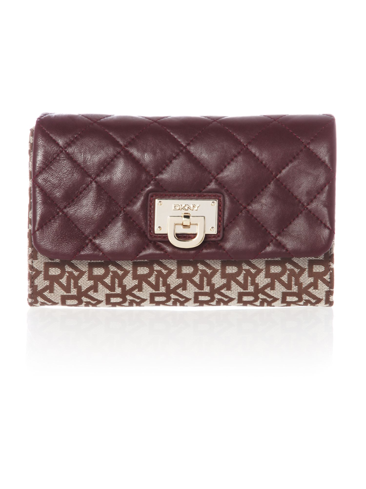 Quilted nappa purple flap over chain cross body