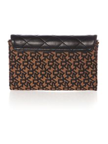 Quilted nappa gold flap over chain cross body