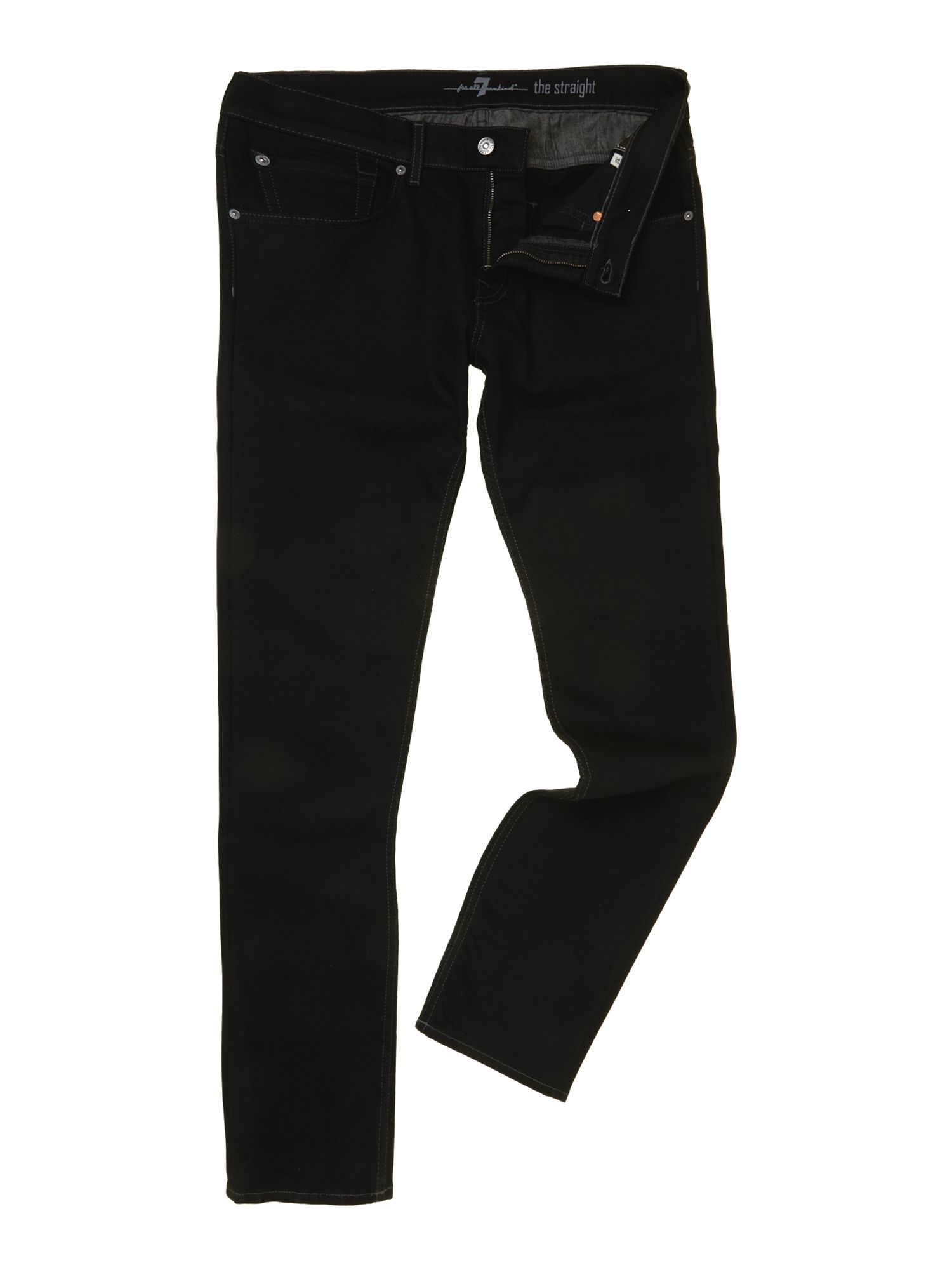 Straight no fade black wash jean