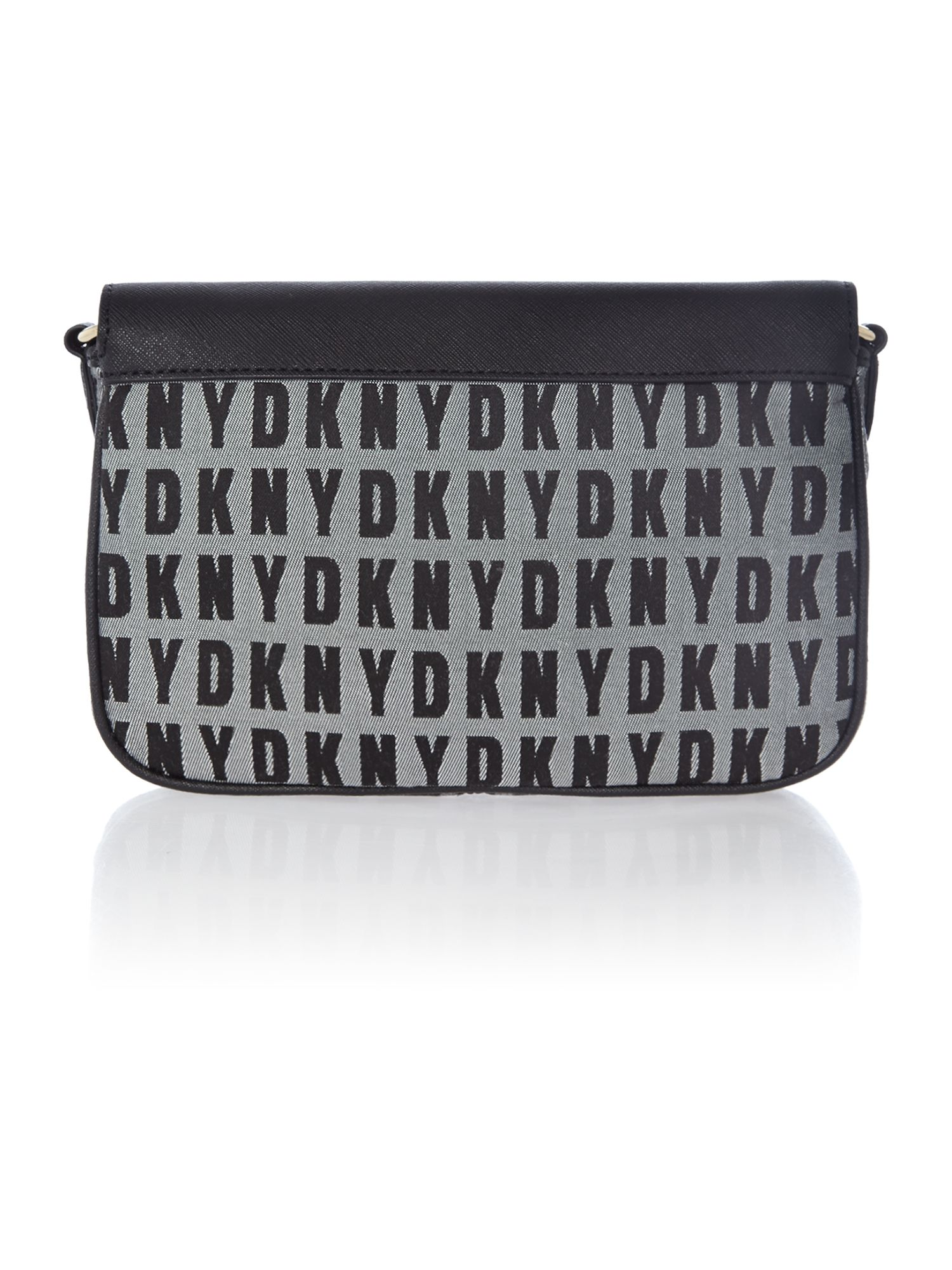 Black small flap over chain cross body bag