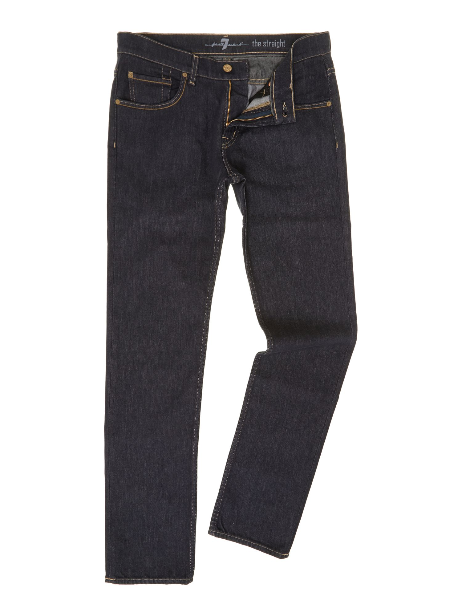 Straight no fade dark wash jean