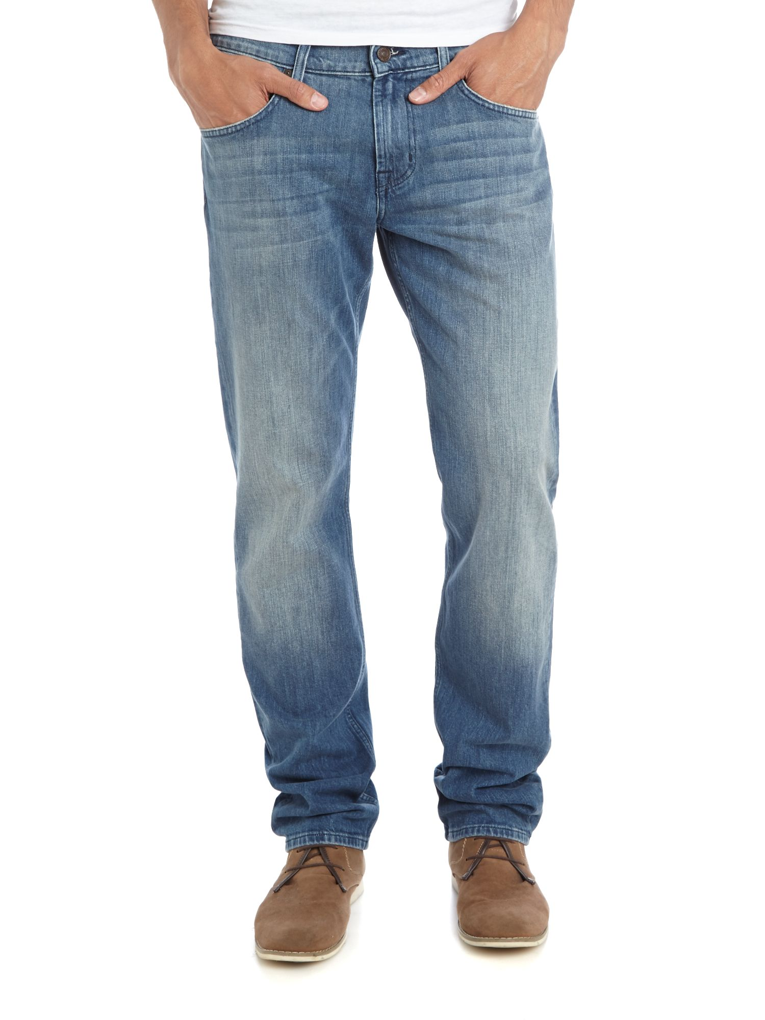 Straight pasadena light wash jean