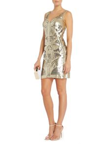 All over sequin mini dress