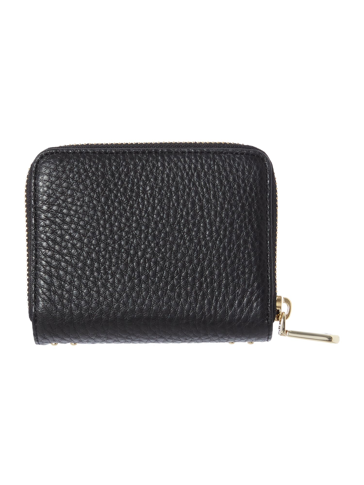 Tribeca black small zip around purse