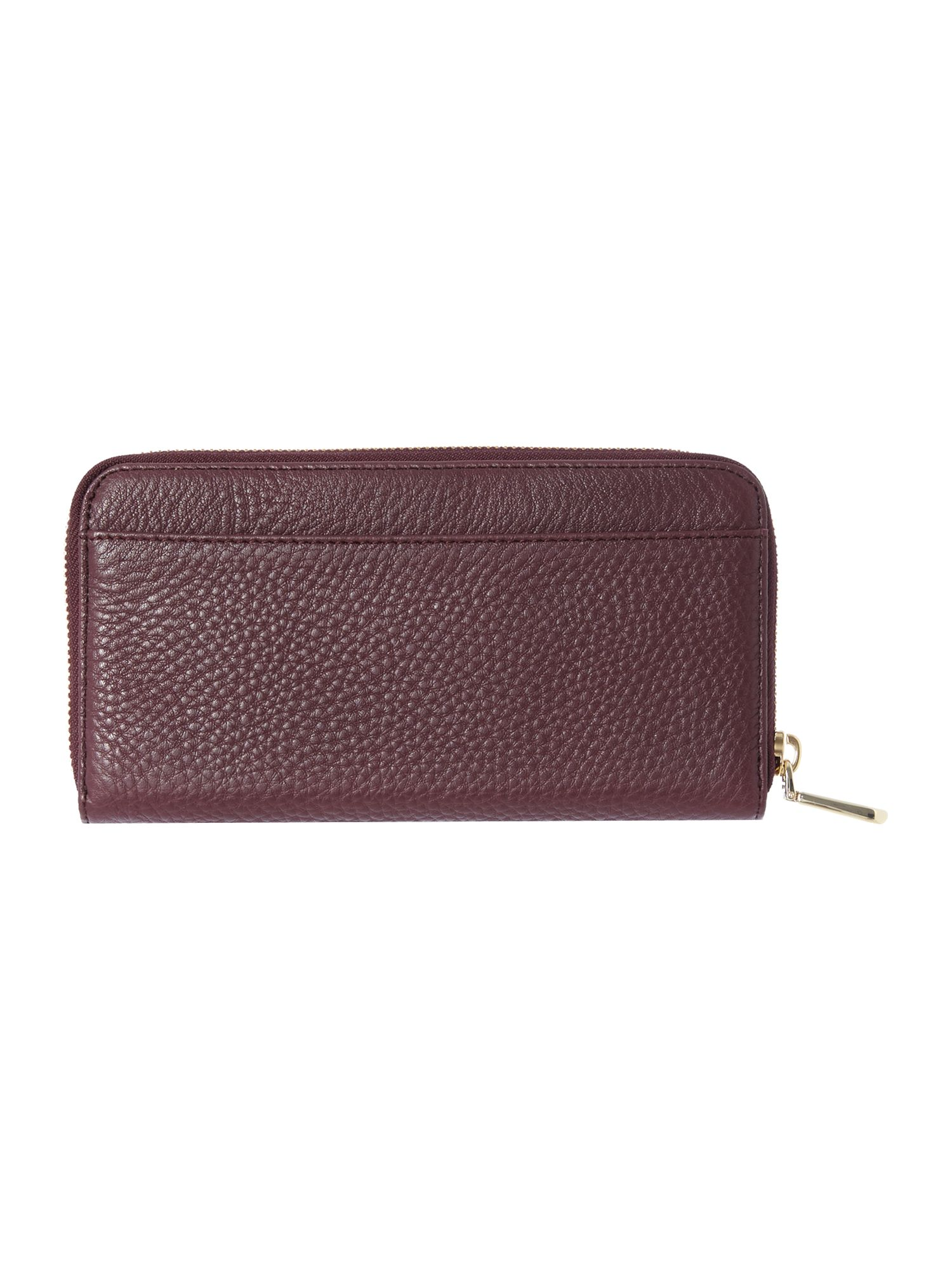 Tribeca purple large zip around purse