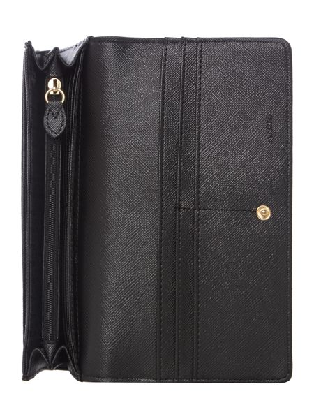 DKNY Bryant park black large flap over purse