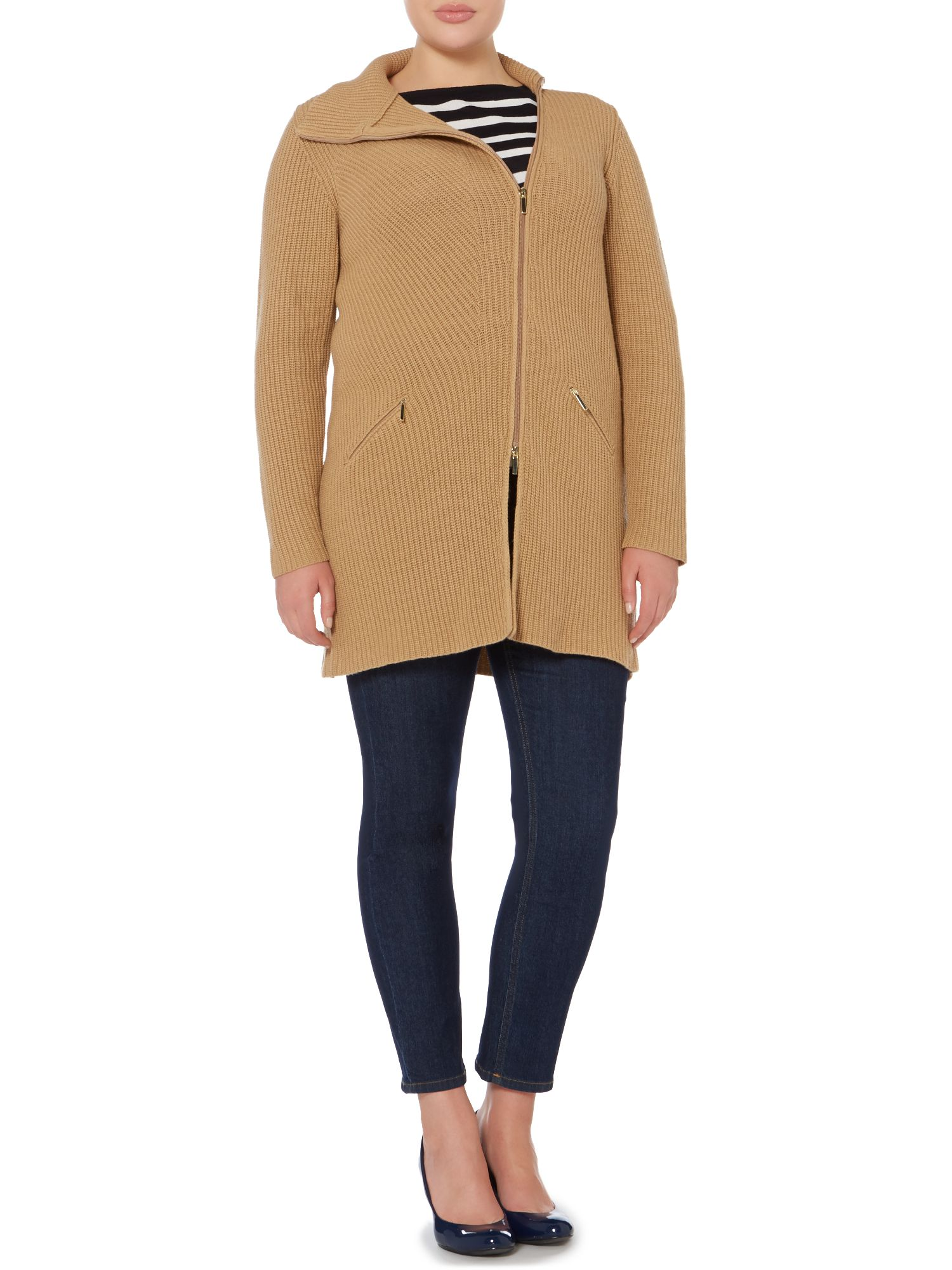 Mila wool cashmere long sleeved cardigan