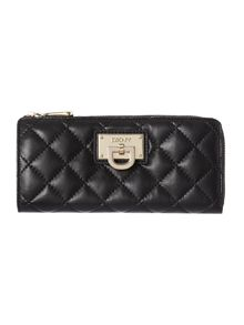 Gansevoort black large half zip around purse