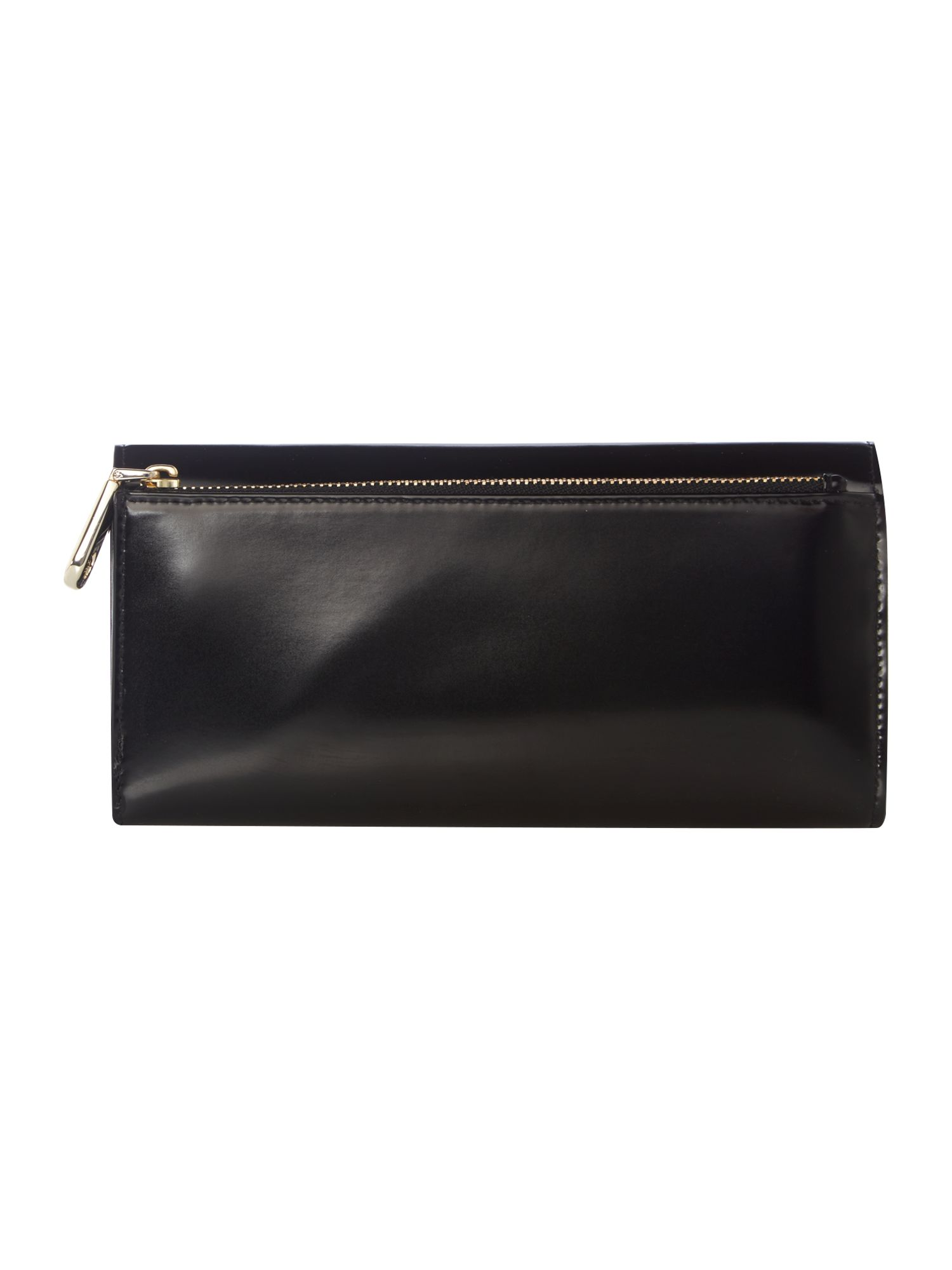 Hudson black large flap over purse