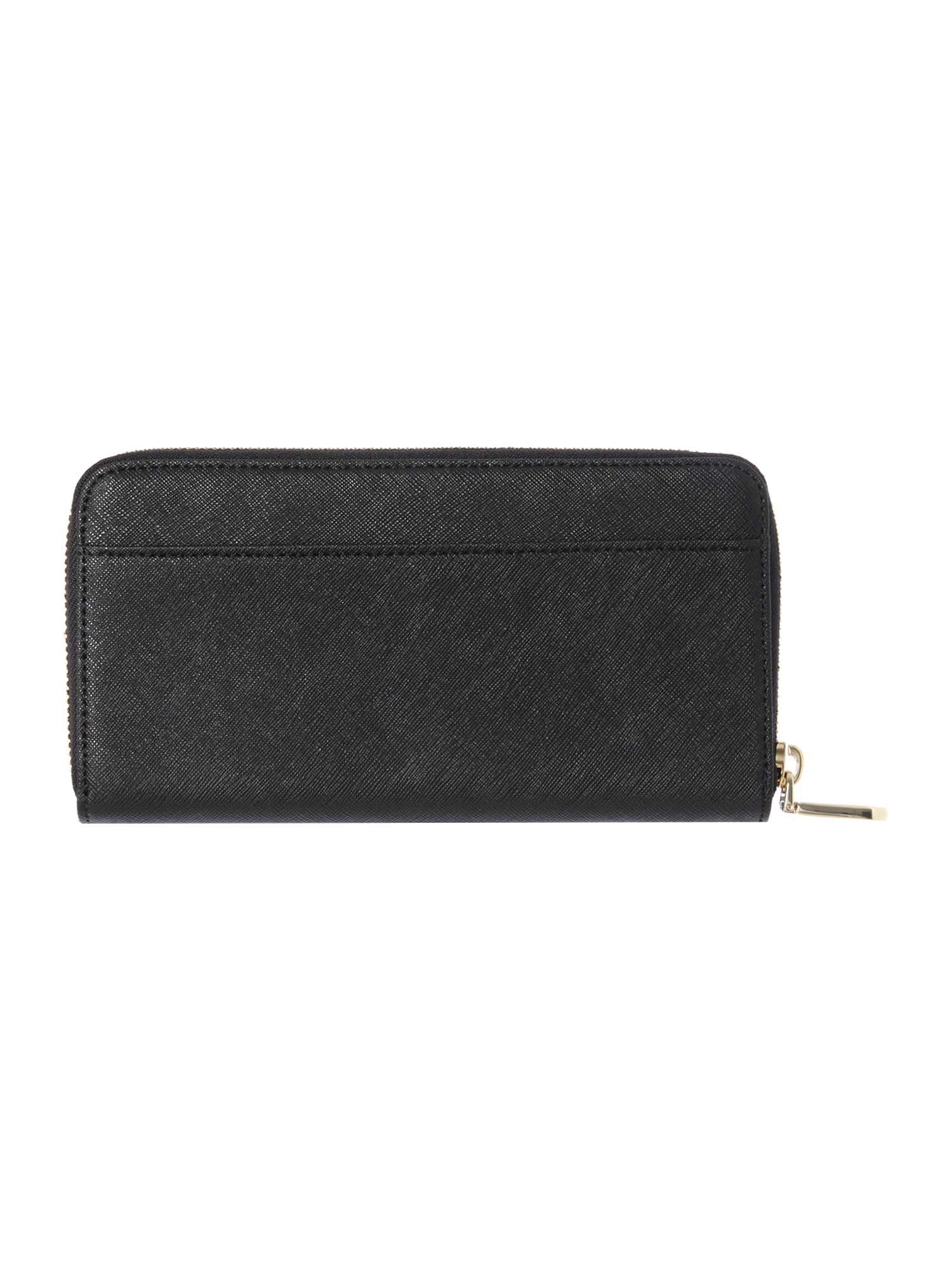 Bryant park black large zip around purse