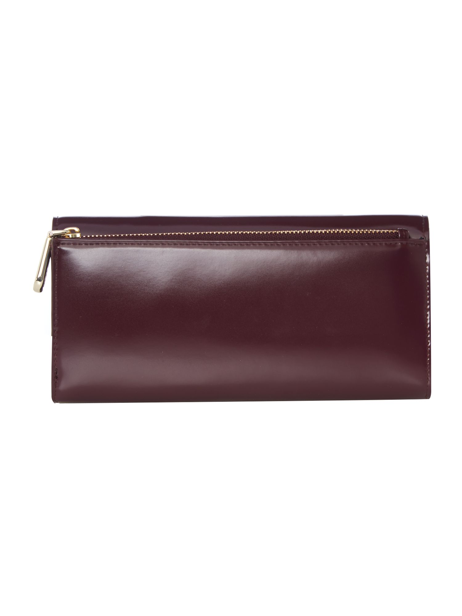 Hudson purple large flap over purse