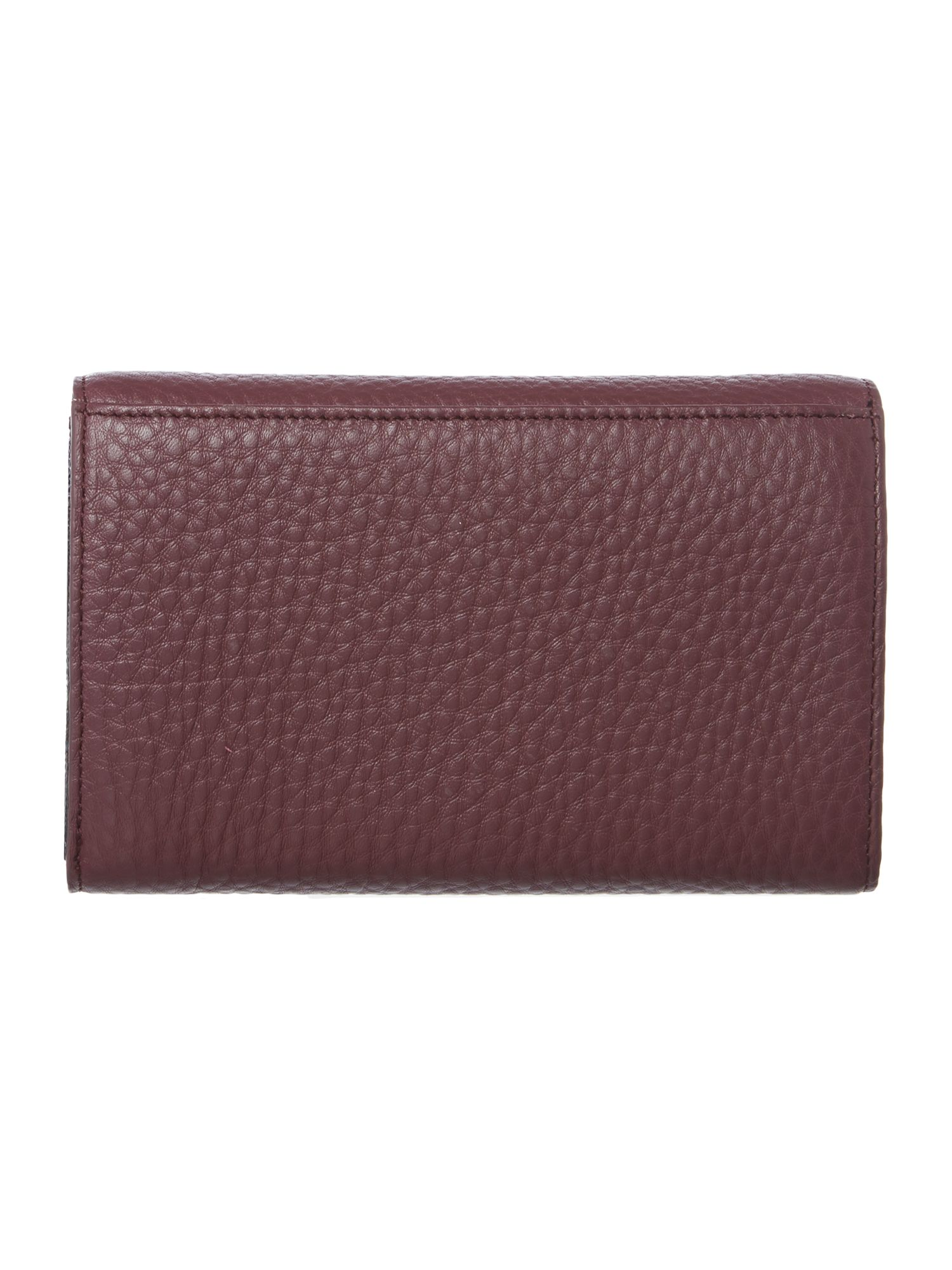 Tribeca purple medium flap over purse