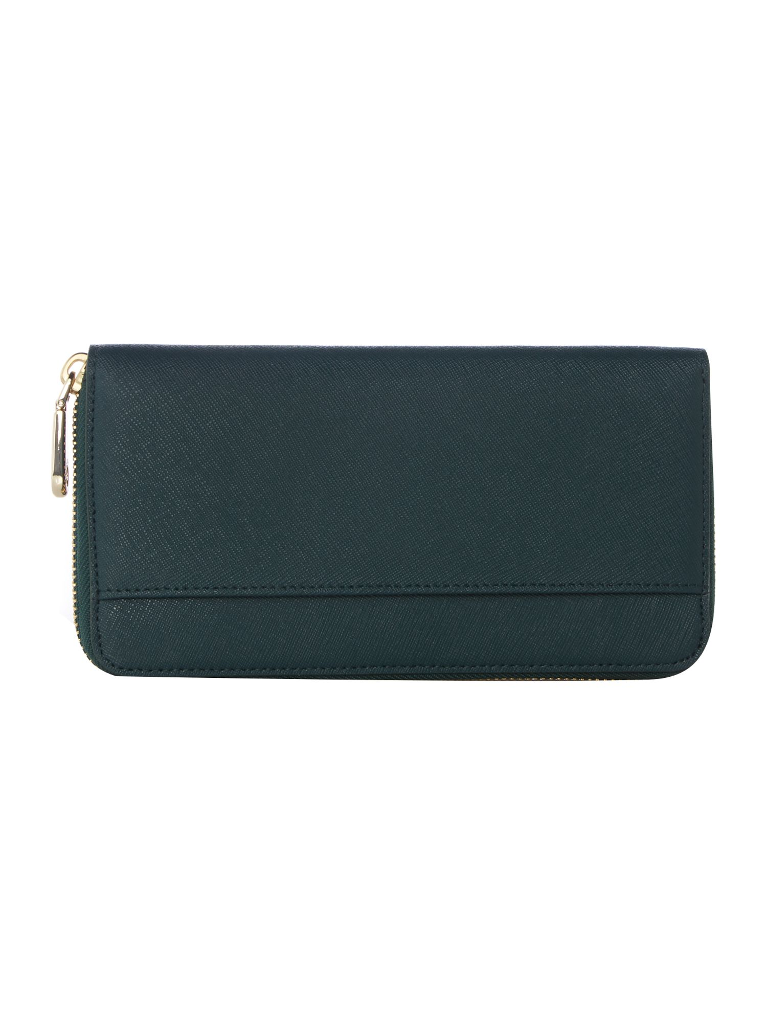 Bryant park green large zip around purse