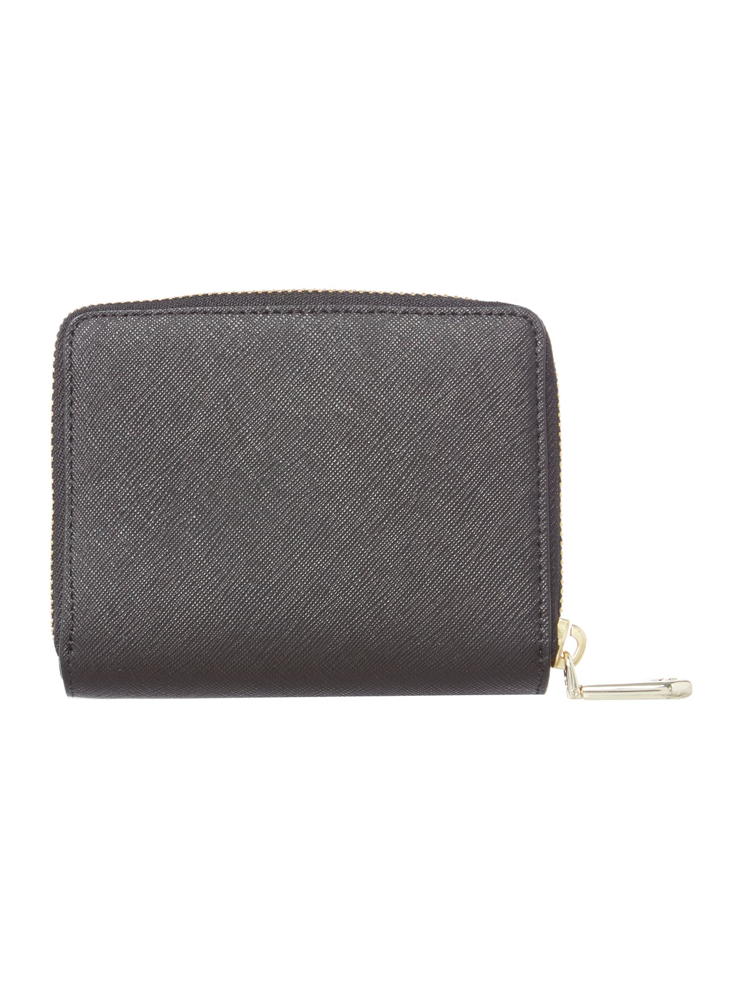 Bryant park black small zip around purse