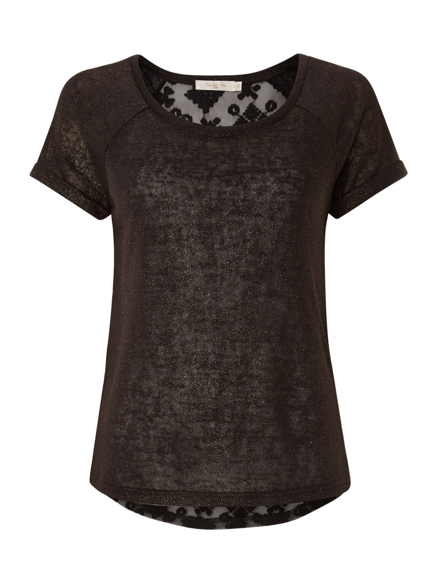 Lace Back T shirt
