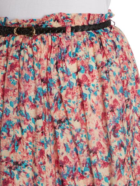 Grace and Mila FLORAL BELTED SKIRT