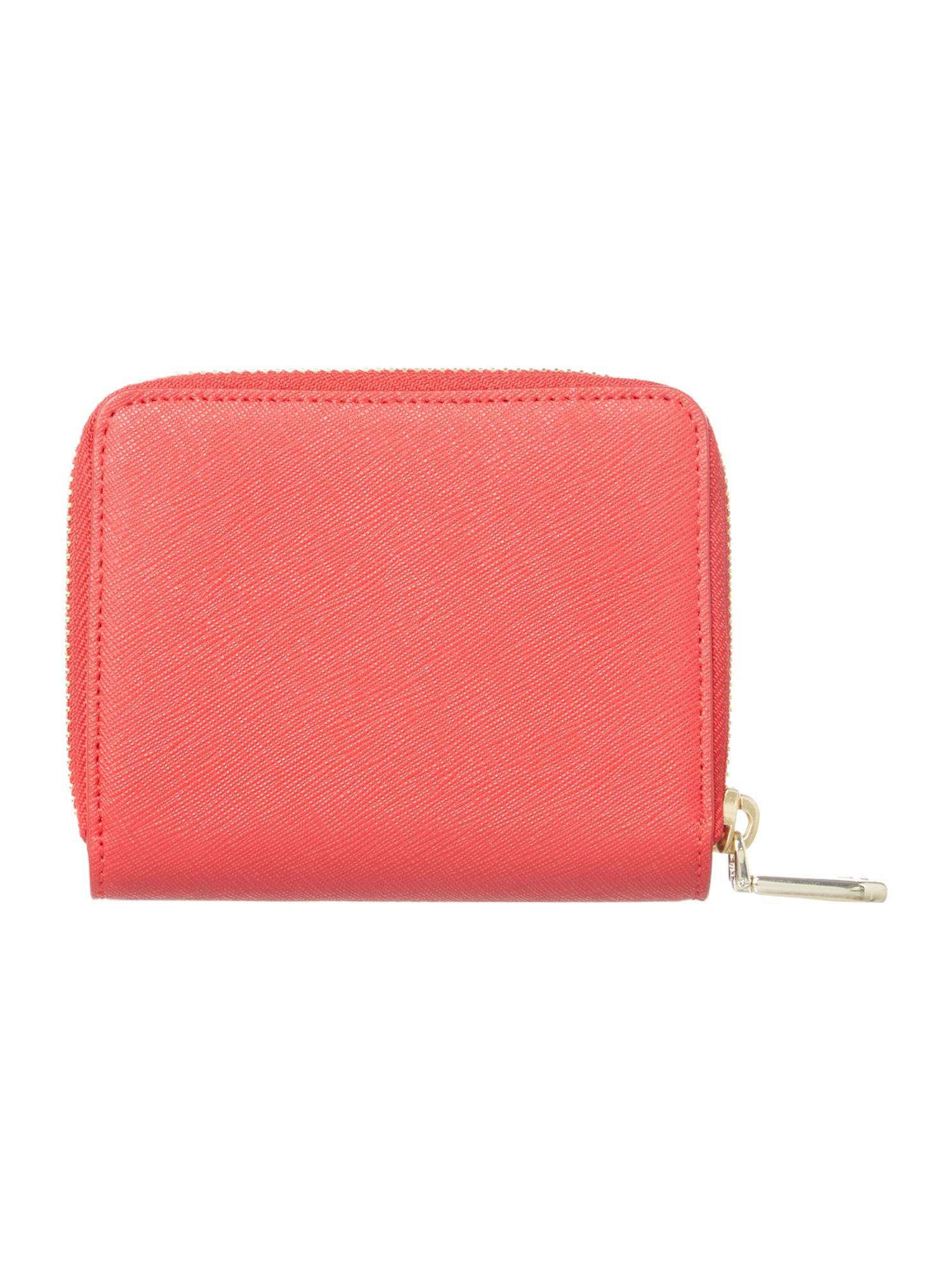 Bryant park red small zip around purse