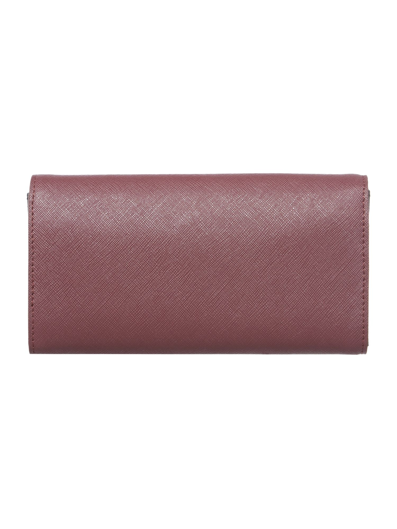 Bryant park purple large envelope flap over purse