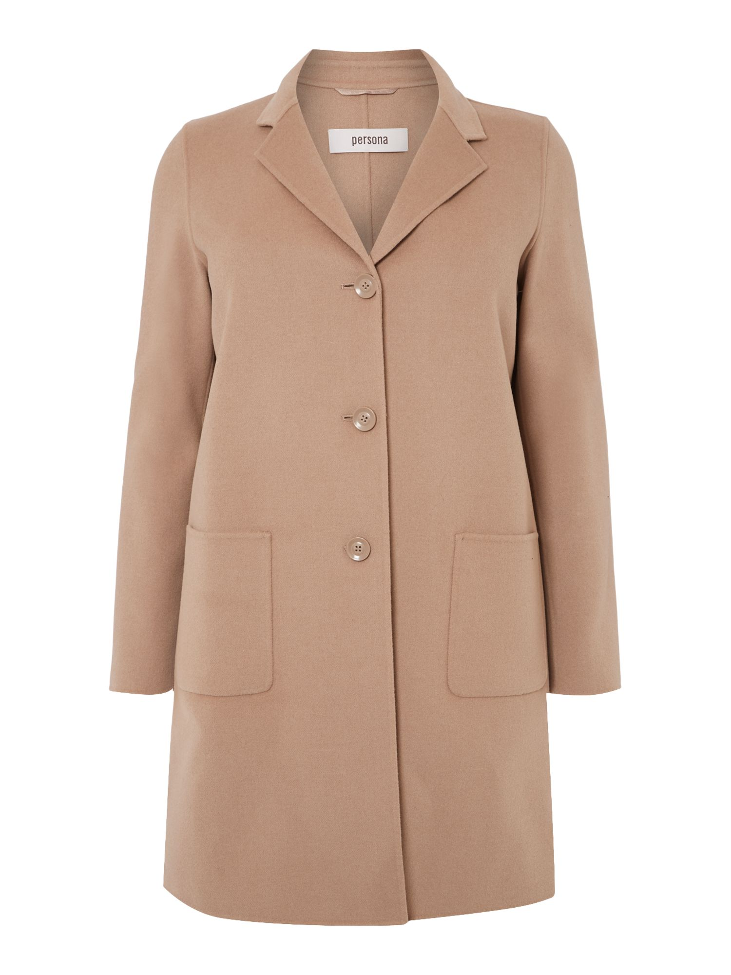 Nodo single breasted wool coat