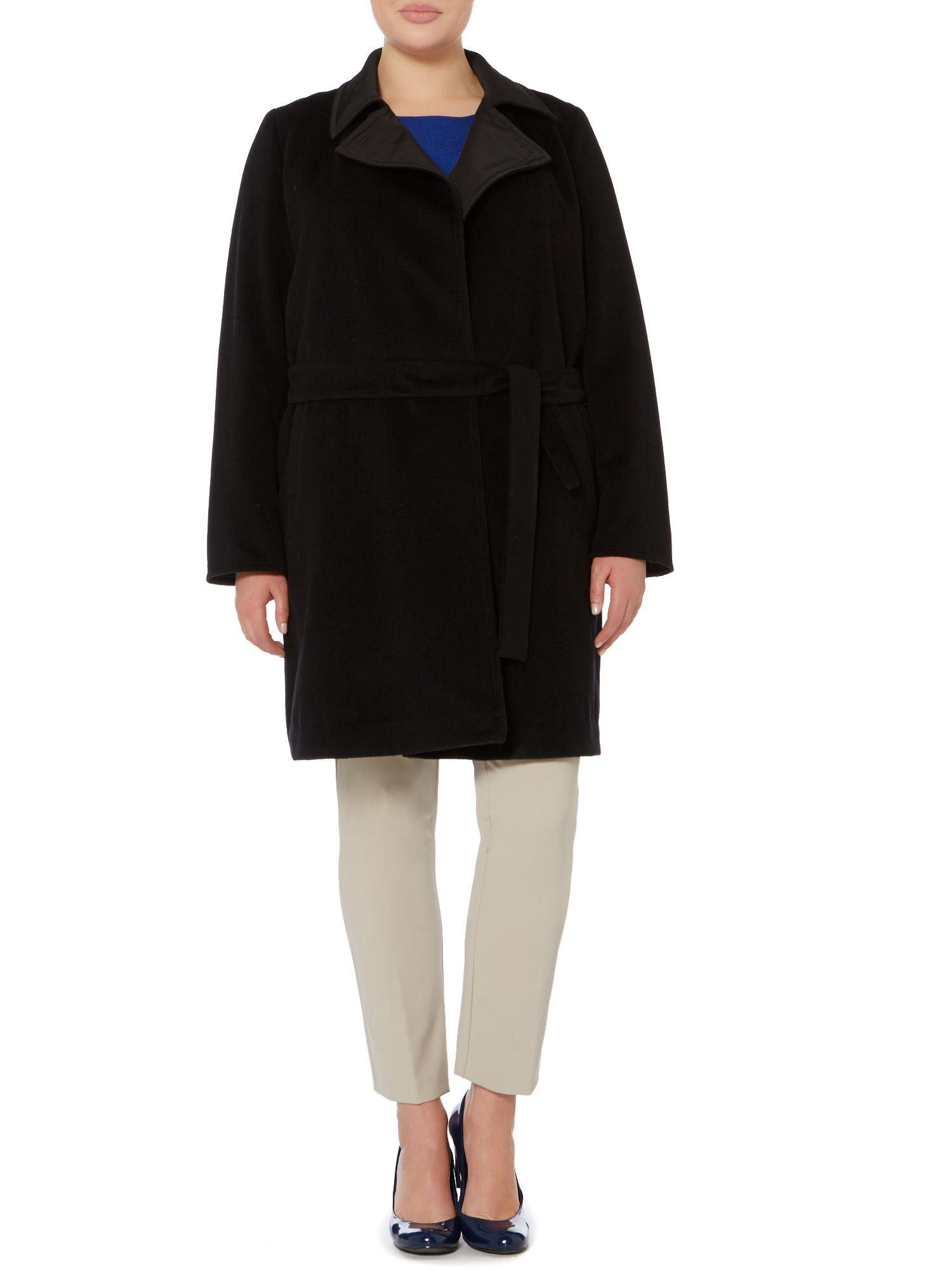 Noto belted reversible wool coat