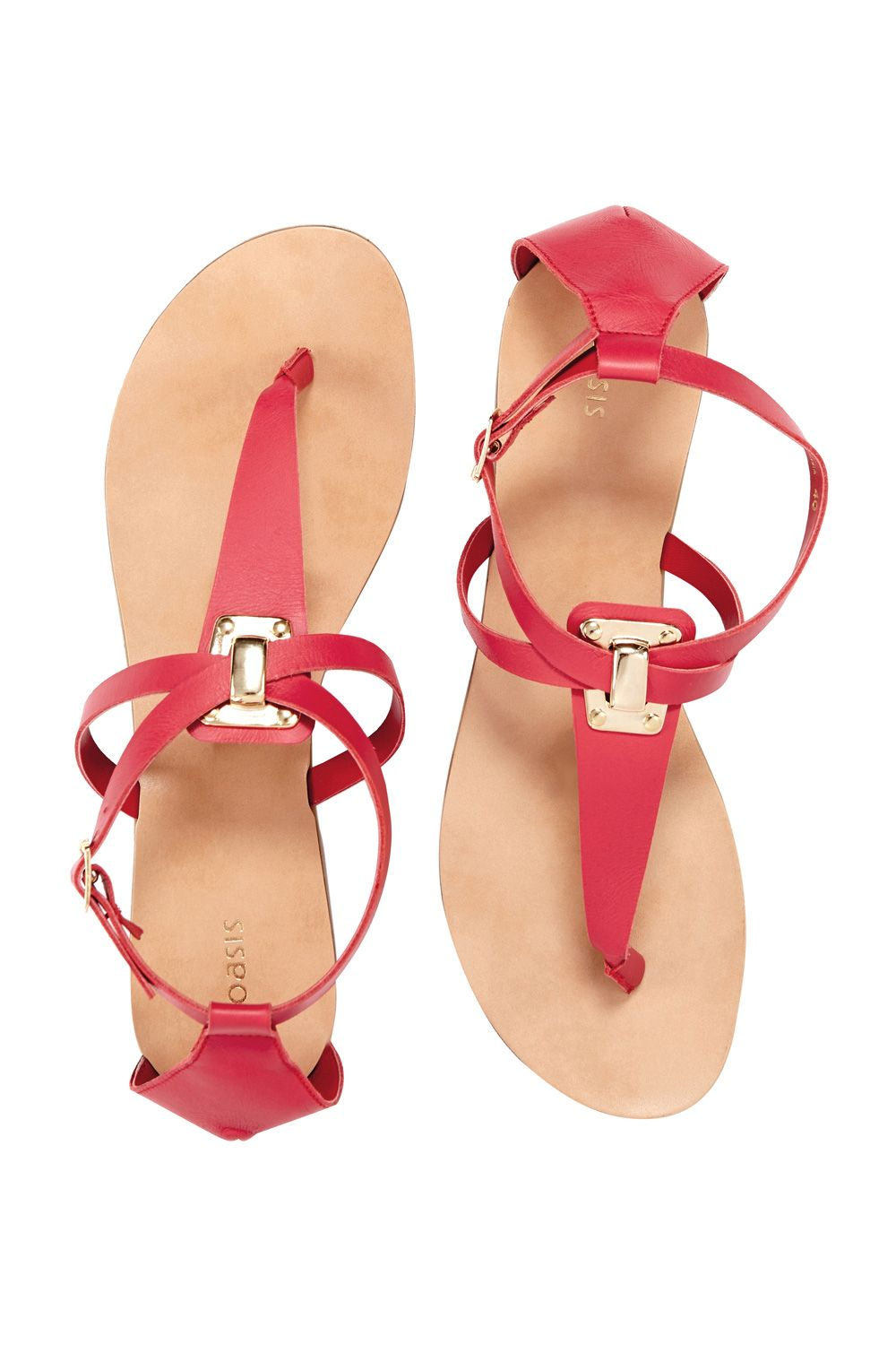 Layla leather toe-post sandals