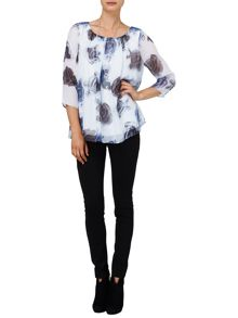 Maya rose silk blouse