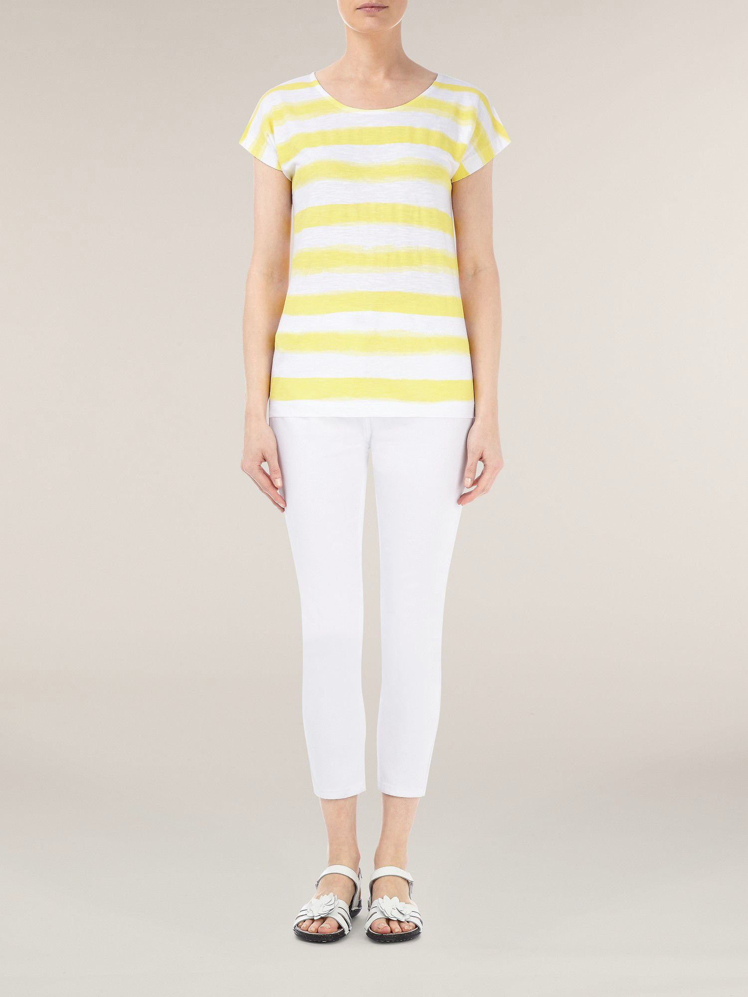 Yellow ombre stripe t-shirt