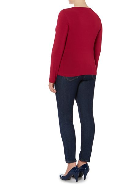 Persona Vilma long sleeved jersey top with metal collar