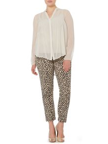 Persona Plus Size Romeo animal print straight leg trouser
