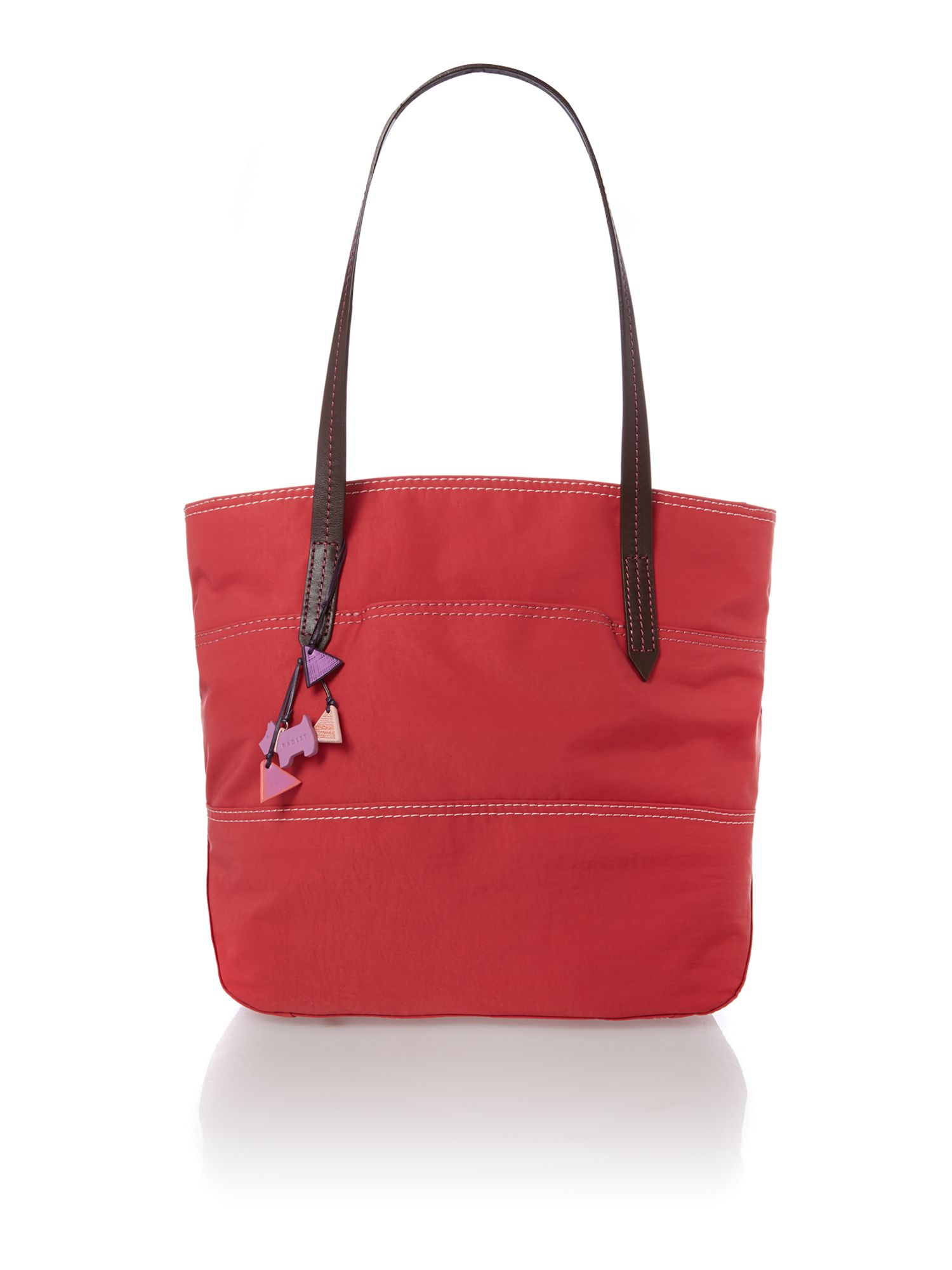 Forbes pink large zip top tote bag