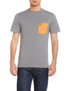 Contrast pocket crew neck Tshirt