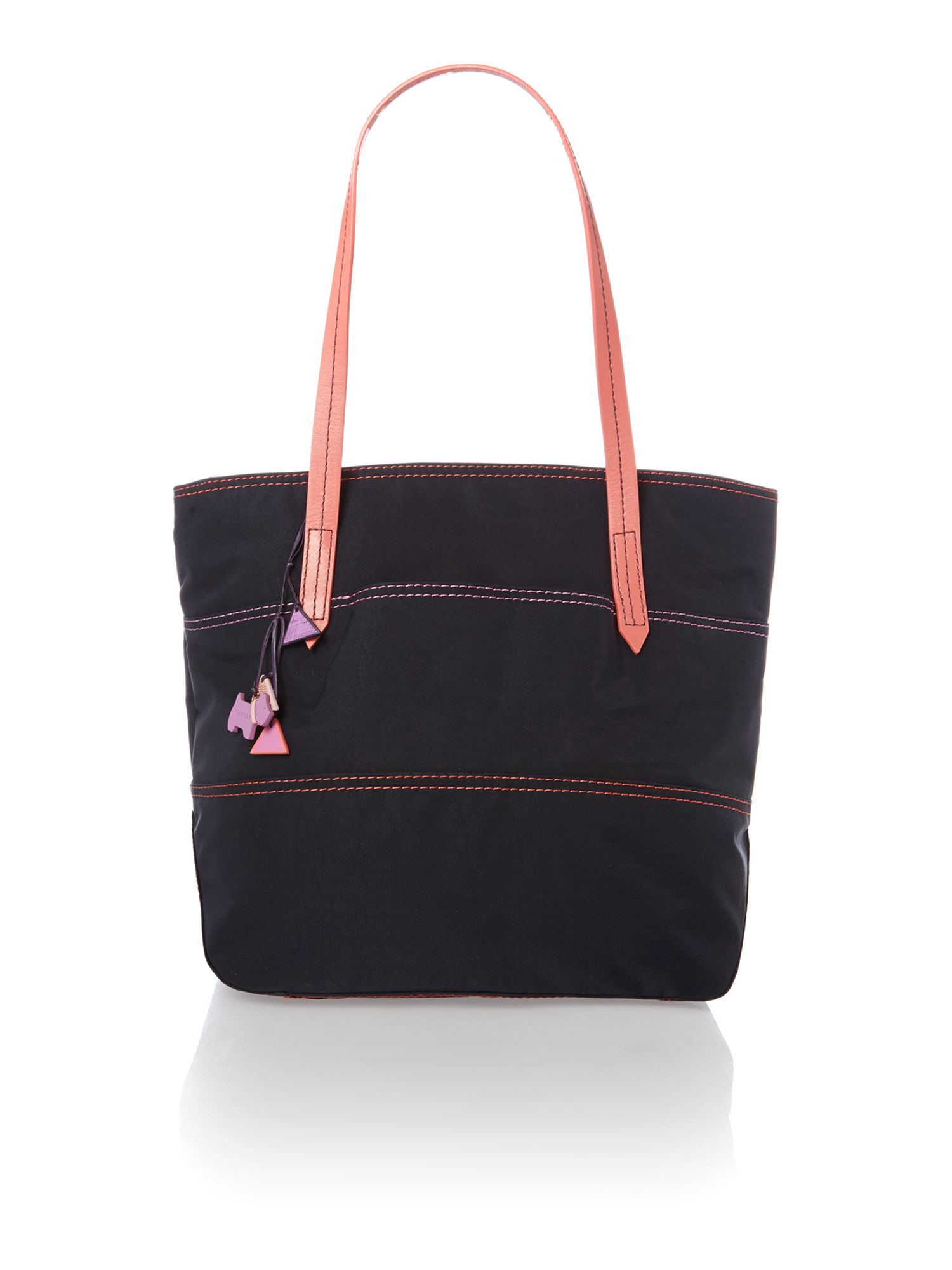 Forbes purple large zip top tote bag