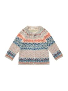 Baby girl fairisle cardigan