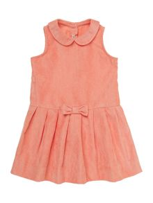 Baby girl drop waist pin cord dress