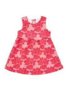 Baby girl floral jaquard dress