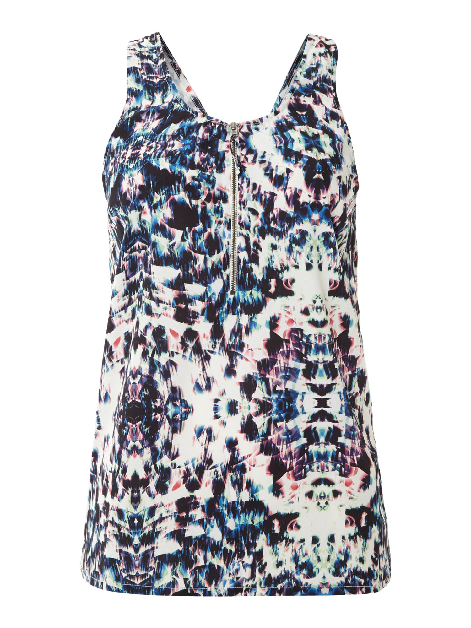 Multi print racer back top