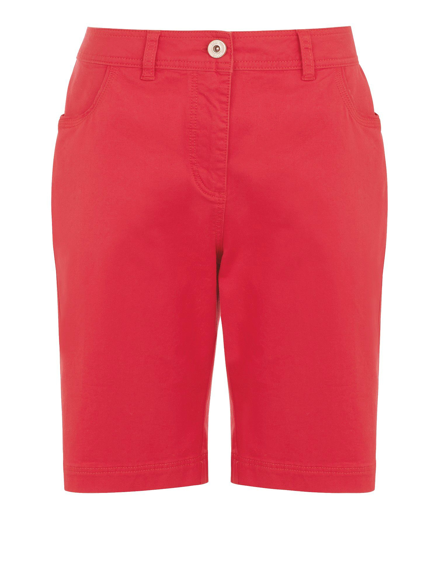 Pink cotton twill city short