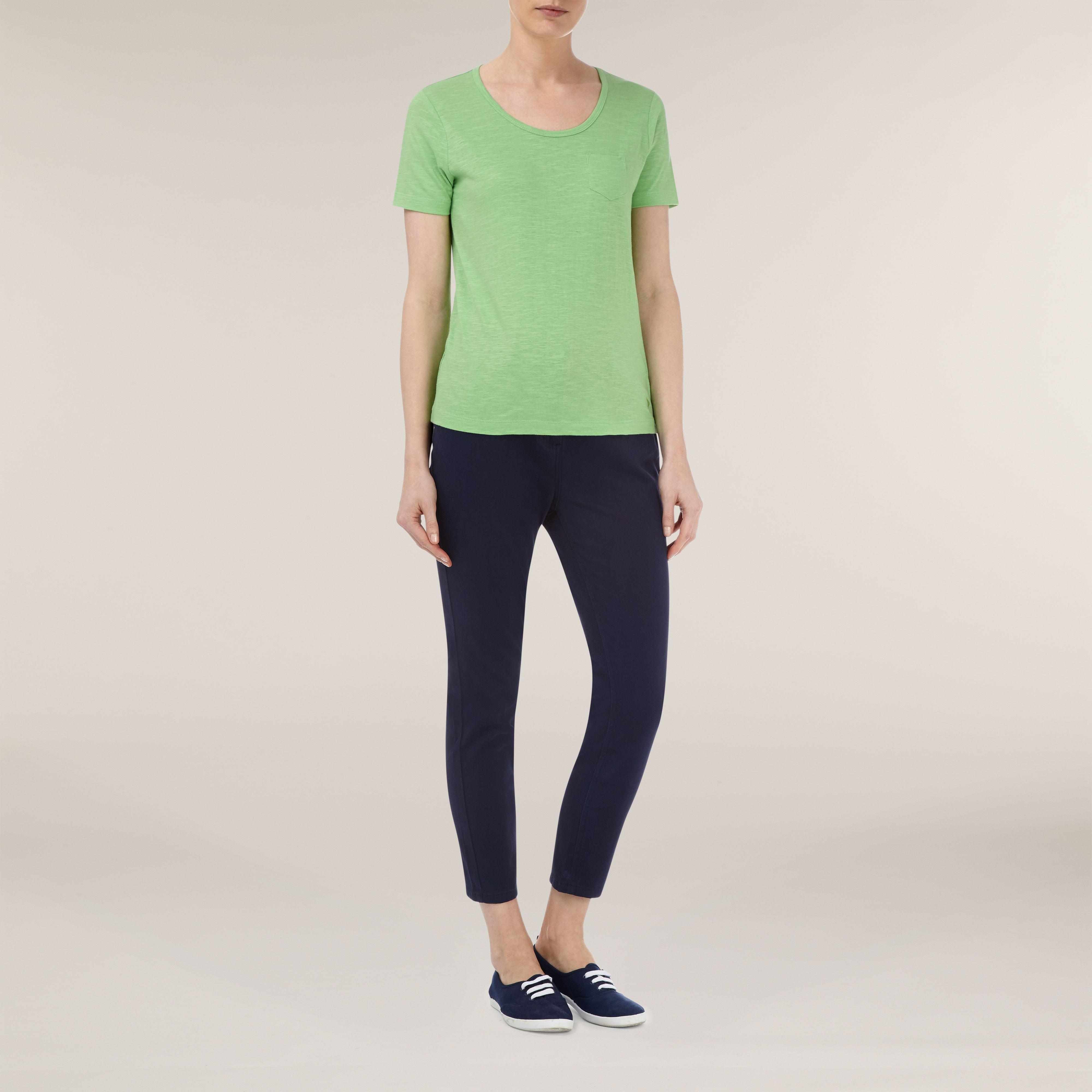 Lime green patch pocket t-shirt