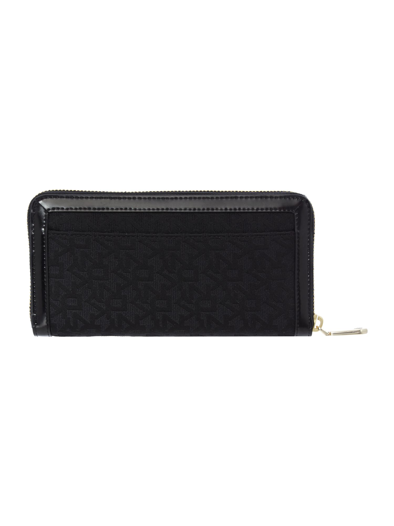 Heritage black large zip around purse