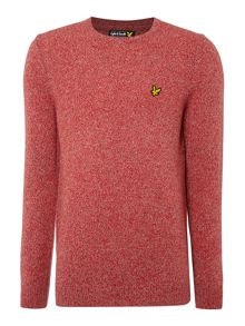 Crew neck mouline pull over