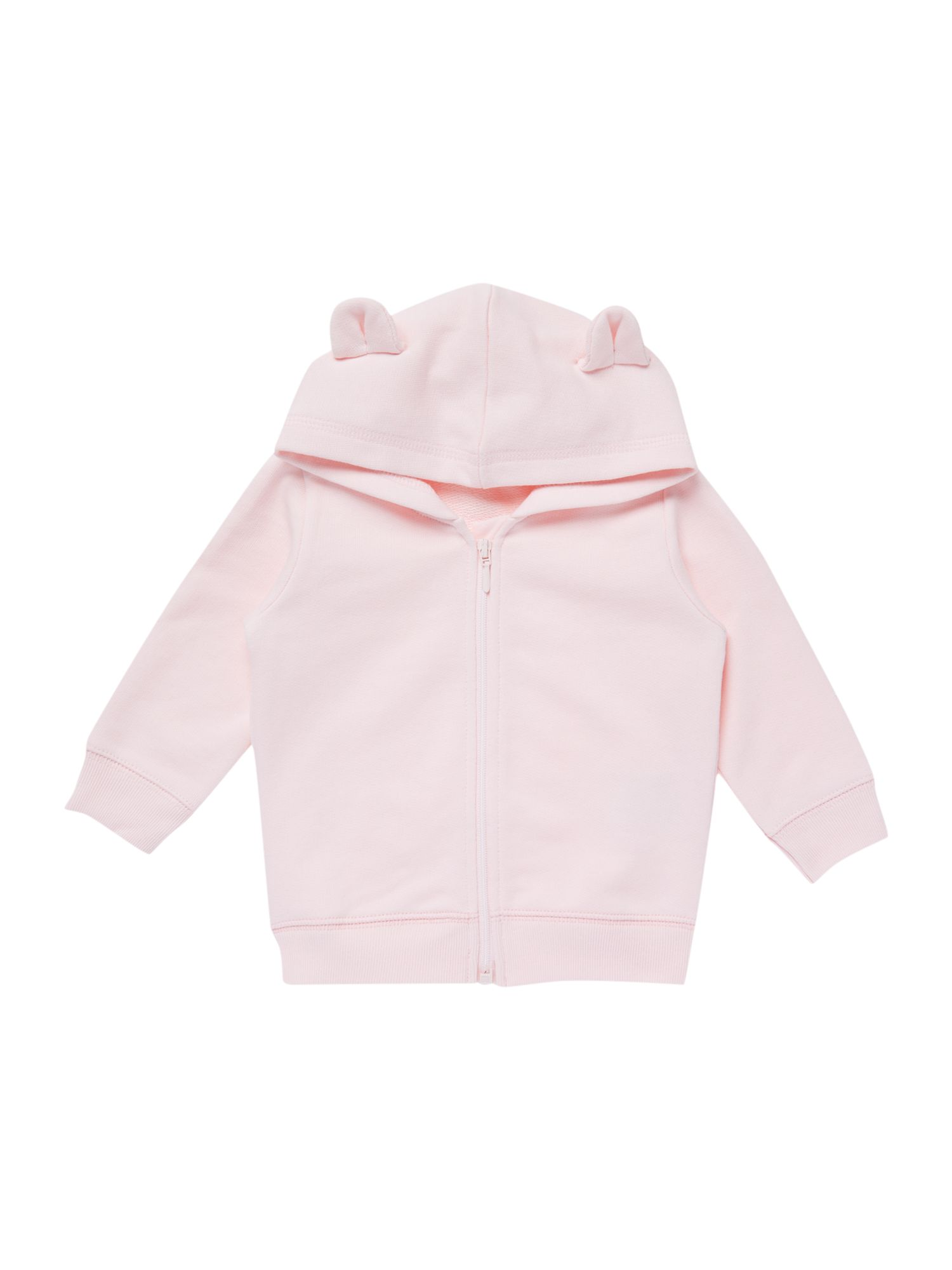 Baby girl hooded sweat top with bear ears