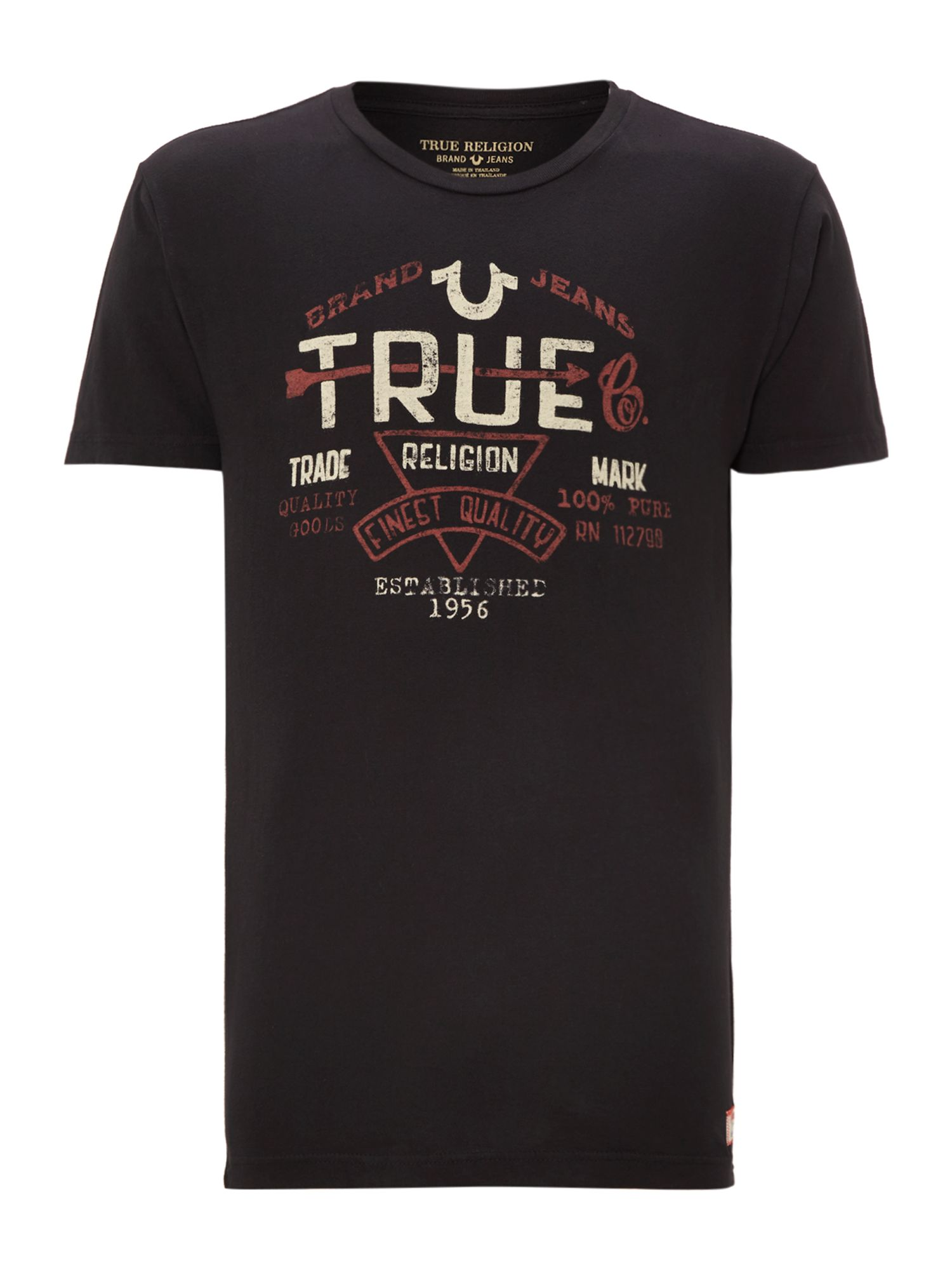 Crew neck arrow true print t shirt