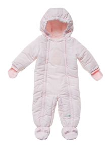 Baby girl padded snowsuit