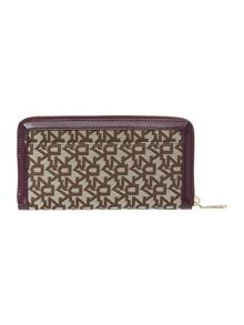 Heritage purple large zip around purse