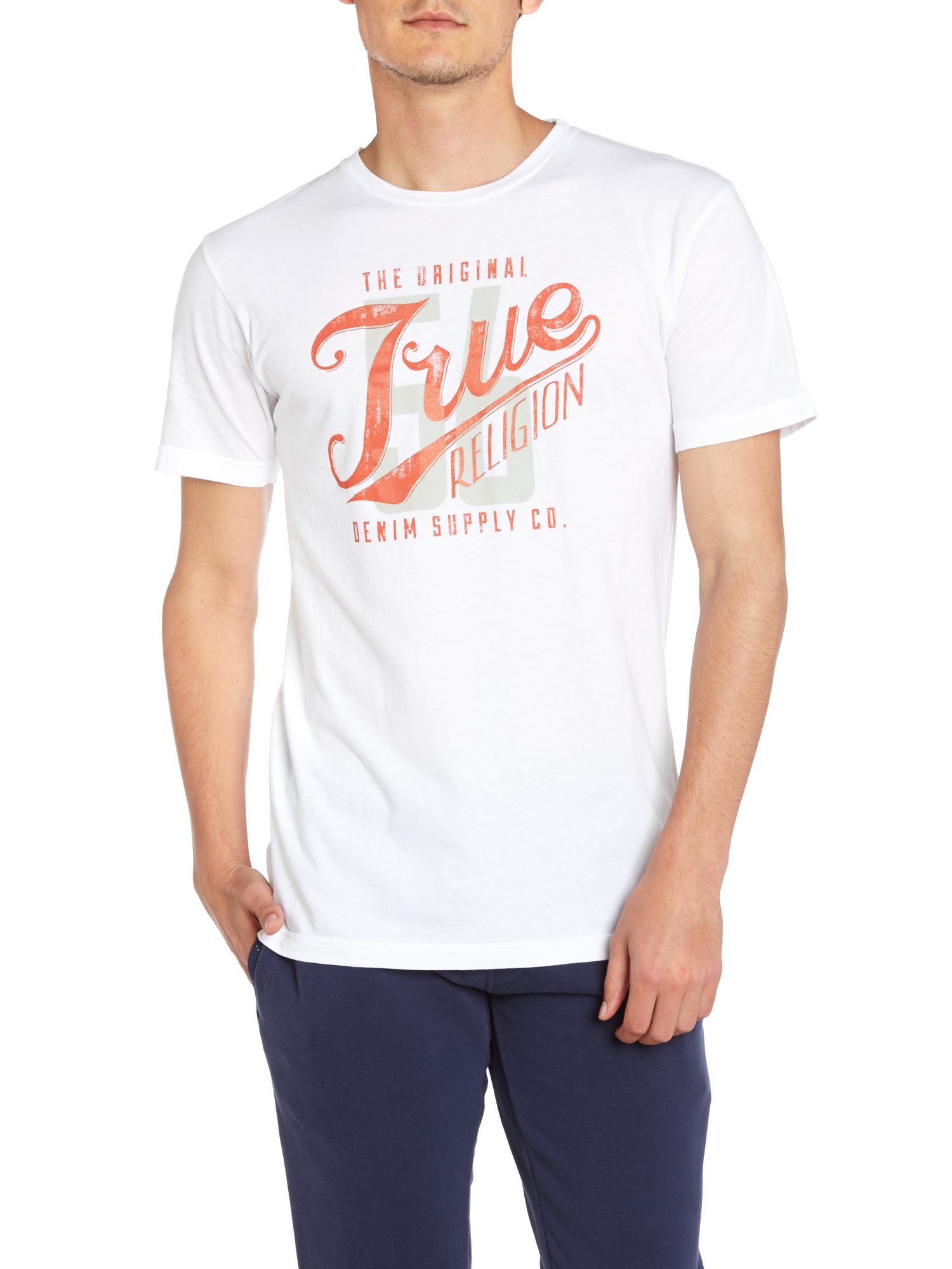 57 true print crew neck t shirt