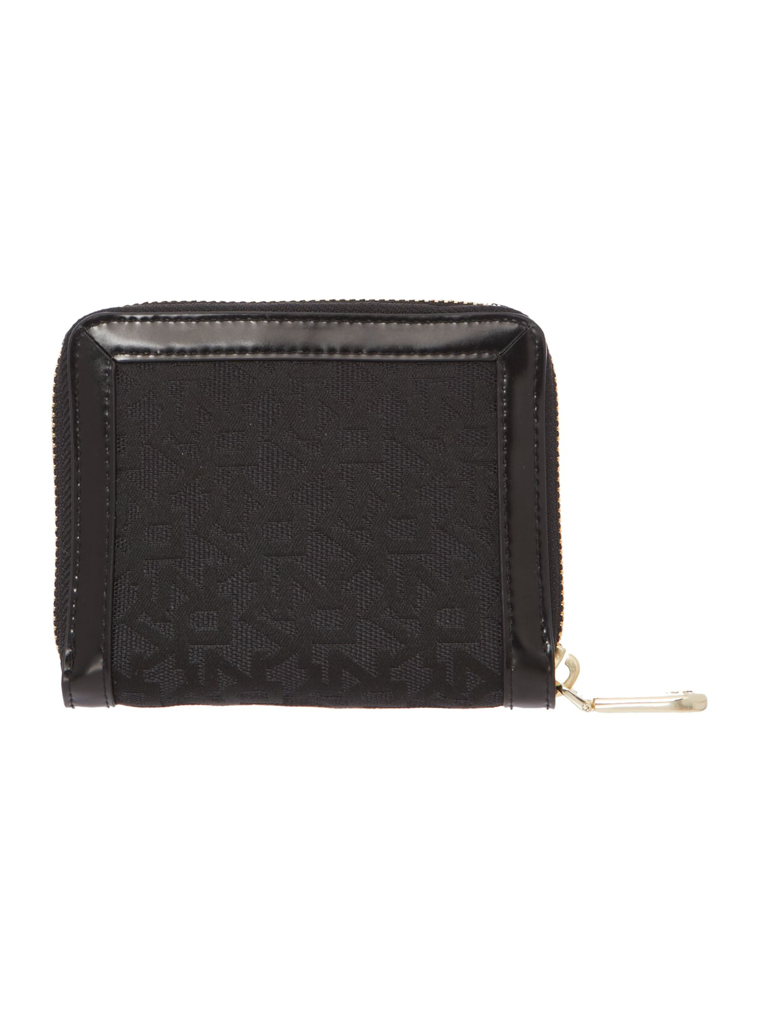 Heritage black small zip around purse