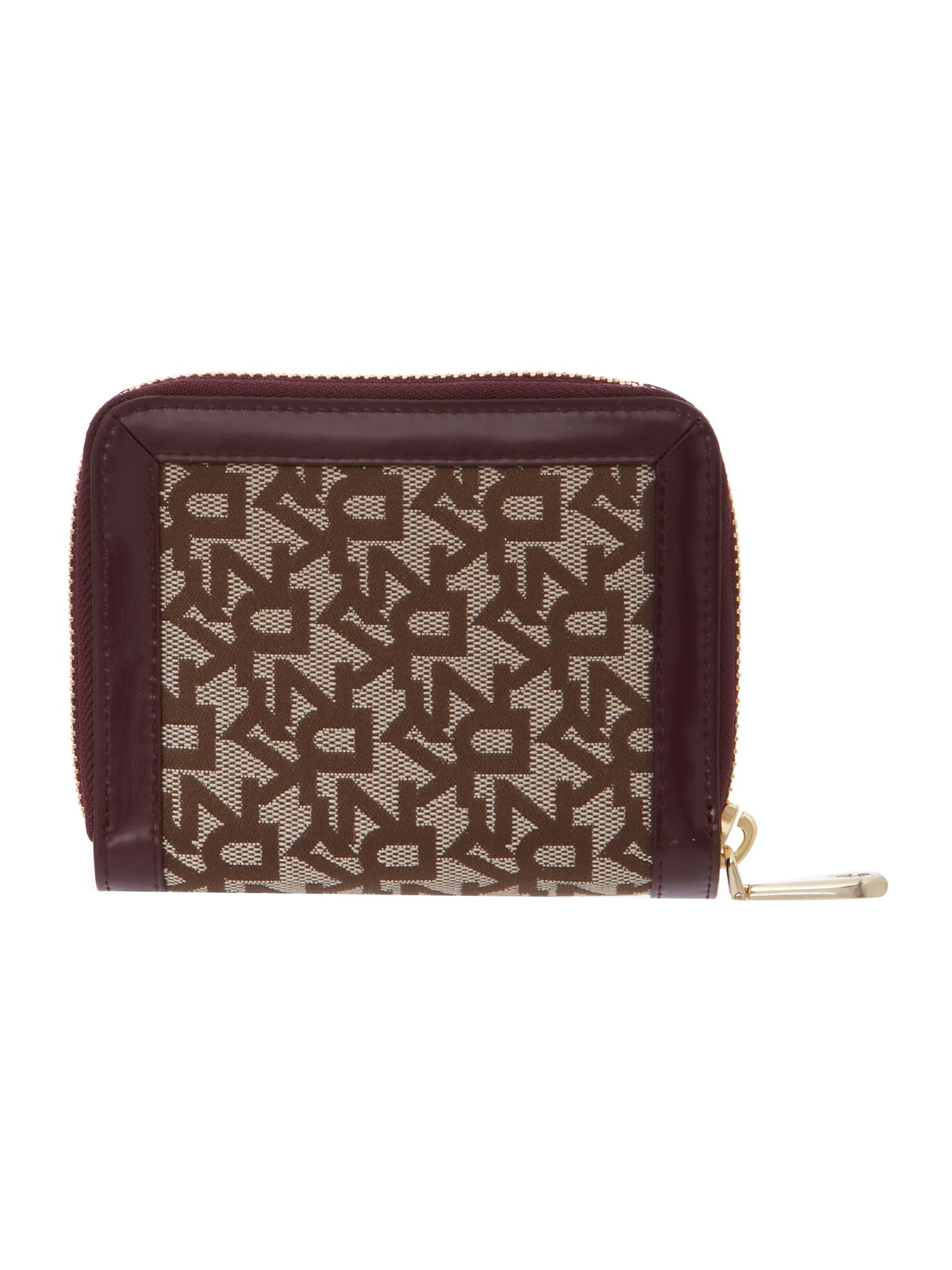 Heritage purple small zip around purse